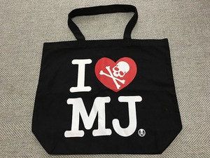 mastermind JAPAN マスターマインド I LOVE MJ トートバッグ 黒 ブラック エコバッグ ショッピングバッグ