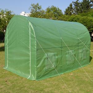 保温 ファスナー付き ビニールハウス 菜園ハウス 温室 グリーンハウス ガーデン 間口215cm×奥行360cm×高さ220m スチールパイプ