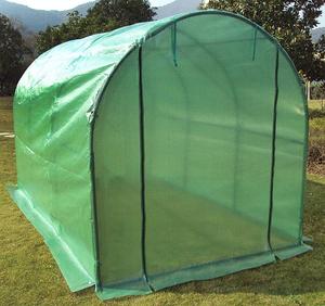前後ドア付き 守る 育てるPE素材 ビニールハウス 温室 簡易温室 ビニール温室 菜園ハウス グリーンハウス ガーデニング19mmスチールパイプ