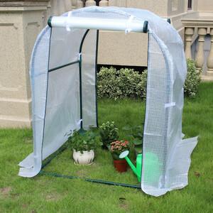 防虫 防鳥対策 PE素材 ビニールハウス 菜園ハウス 温室 ガーデンハウス 約間口100cm×奥行100cm×高さ120cm スチールパイプ 保温