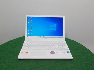 カメラ内蔵/15型/ノートPC/Win10/新品256GB/DDR4 8GB/Cel 3865U/FMV AH42/B2 リカバリー領域 新品無線マウス office搭載