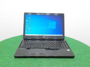カメラ内蔵/中古/15型ノートPC/Win10/8GB/新品SSD256/AMD E1-7010 /FMV AH30/W office搭載 新品無線マウス