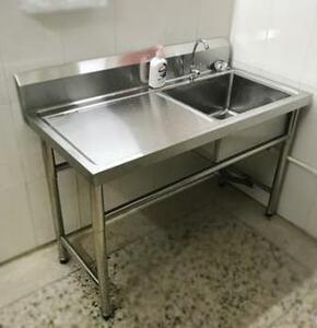 【業務用シンク】キッチン 調理場 台所 業務用 シンク 水槽 蛇口 ステンレス 手洗い場 料理 調理