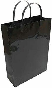 黒 A4 エヒメ紙工 ギフトバッグ ラミネート A4サイズ 黒 10枚パック PPA4-BL-10P