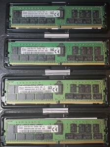 [未使用品] 32GBx4個出品(計128GB) DDR4-3200MHz RDIMM PC4-25600R ECC registered 2Rx4 288pin SK Hynix製 HMA84GR7CJR4N-XN