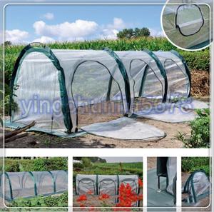 間口1m×奥行3m×高さ1m★ビニールハウス 菜園ハウス 温室 グリーンハウス ガーデンハウス ガラス繊維パイプ 保温移動式トンネル PE素材