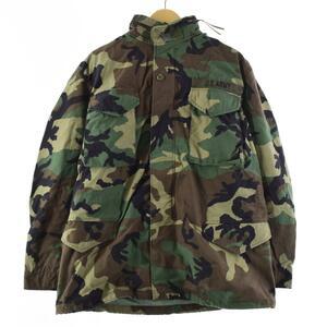 99年納品 米軍実品 U.S.ARMY ウッドランドカモ 迷彩 M-65 ミリタリー フィールドジャケット USA製 MEDIUM LONG メンズL /eaa184444