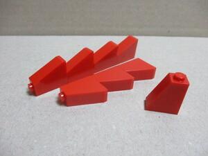 レゴ パーツ 1×2×2スロープ 赤8個 新品