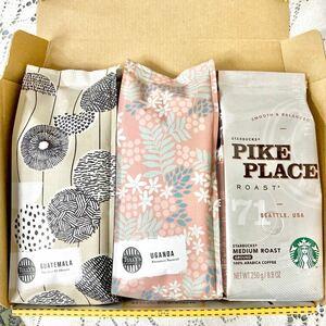 タリーズコーヒー 3点SET パイプクレイス ウガンダ グァテマラ タリーズ コーヒー 豆 粉 スターバックス スタバ