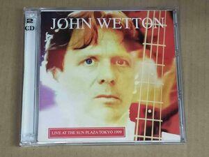 ジョンウェットン JOHN WETTON / LIVE IN SUN PLAZA TOKYO 1999 2枚組CD f905