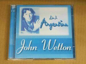 ジョンウェットン JOHN WETTON / LIVE IN ARGENTINA 2枚組CD f901