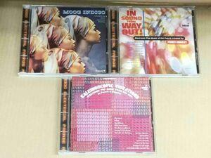 ペリー&キングスレイ CD3枚セット PERREY & KINGSLEY MOOG INDIGO/KALEIDOSCOPIC VIBRATIONS/THE IN SOUND FROM WAY OUT! f898