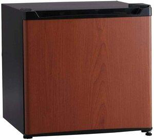 超安値!おすすめ アイリスプラザ 1ドア 冷蔵庫 PRC-B051D-M 46L 右開き (幅47cm) ダークウッド HND9