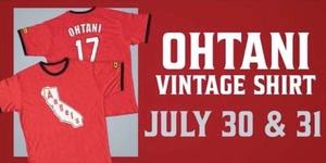 大谷翔平 ヴィンテージTシャツ エコバッグ付 球場配布 非売品 新品未開封 ロサンゼルス・エンゼルス MLB OHTANI