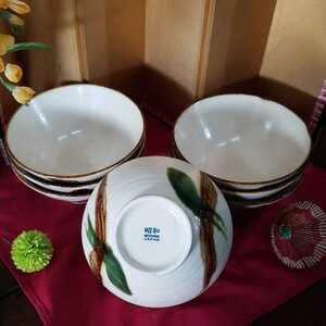 i0554 シンプルで使いやすいどんぶり鉢 どんぶり鉢7点セット どんぶり鉢 鉢 昭和 和食器 陶磁器