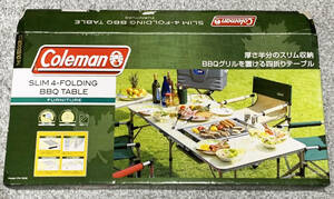 Coleman SLIM 4-FOLDING BBQ TABLE コールマン アウトドア テーブル スリム四折 BBQテーブル 170-7638/キャンプ