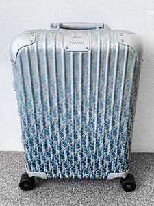 DIOR and RIMOWA TOPAS cabin ディオール リモワ 33L 4輪 スーツケース/original essential ステルス チタニウム トパーズ 鞄 バッグ