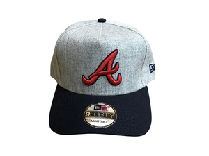 cap-169 ニューエラ NEW ERA MLB Atlanta Braves 9FORTY ADJUSTABLE CAP 帽子 ベースボールキャップ ストリート グレー×ネイビー