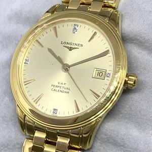 ☆1円~美品 ロンジン V・H・P パーペチュアル フラッグシップ L4.722.4 メンズ クオーツ 1957本限定 腕時計 CD1887451