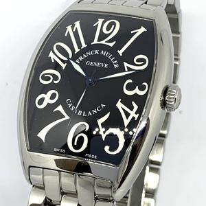 1円~ フランクミュラー Frank muller カサブランカ 黒文字盤 6850BC メンズ 自動巻き ギャランティ 腕時計 CD28911291