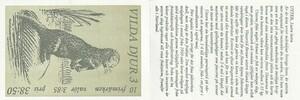 スウェーデン 野生動物 オコジョとカワウソ 1996 切手帳 未使用 外国切手