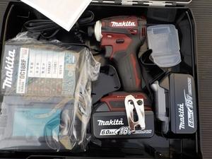1円スタート税込新品マキタ充電インパクトドライバーTD172DGXAR赤オーセンティックレッド18V6,0AhセットTD172DRGXブラシレスモーター