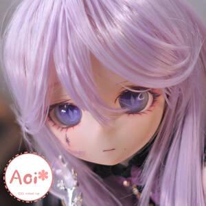 Aoi*葵 DDH01 フレッシュ N肌 カスタムヘッド(難あり) + アイ + ウィッグ +杖