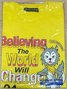 M size 24 hour tv charity T-shirt yellow color 24HOUR TELEVISION 24 hour TV 24htv yellow M gold pli