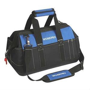新品在庫限り 道具袋 ツールバッグ 工具バッグ WORKPRO 600Dオックスフォード 強化底 幅40cm 工XWQS