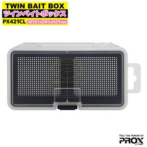 ツインベイトボックス クリア M PX421CL 161x91x31mm PROX ワカサギ釣り用品