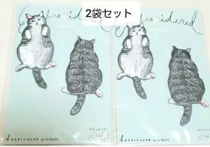 コッカ 猫 刺繍ワッペン 2袋 シール ハンドメイド