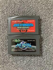 メトロイドフュージョン メトロイドゼロミッション GBA ゲームボーイアドバンス