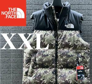 ◆モデル出品◆新品 XXL ザ・ノースフェイス ヌプシダウンベスト グースダウン700 カモ 迷彩 The North Face M 1996 RETRO NUPTSE VEST