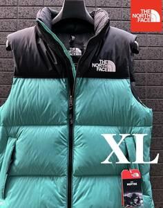 ◆モデル出品◆新品 XL ザ・ノースフェイス ヌプシダウンベスト グースダウン700 The North Face M 1996 RETRO NUPTSE VEST GREENカラー