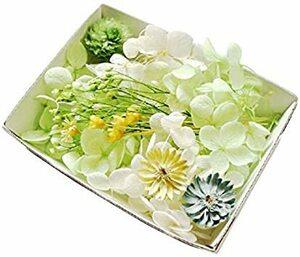 特別価格!アップルグリーン ハーバリウム花材セット 材料 アロマワックスサシェ プリザーブドフラワー ドライフラワー アジM108