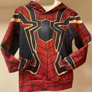 スパイダーマン キッズ コスプレパーカー XS ハロウィン