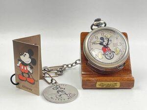 ★A-36★ディズニー公式 インガソール ミッキーマウス 完全復刻 メモリアルコレクション 手巻き式 懐中時計 シルバー ZR25834 未使用品