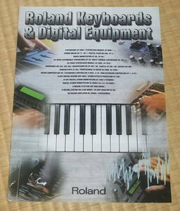 Roland Keyboards & Digital Equipment 1999 ☆ ローランド カタログ シンセサイザー