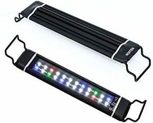 □残1□28CM-46CM 水槽 ライト タイマー付き 五色LEDライト 明るさ調整 水槽照明 アクアリウムライト 28~46cm水槽用