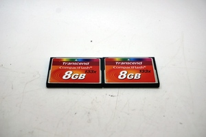 【Sale】東京)1)Transcend トランセンド 8GB 133x CompactFlash CFカード 2枚