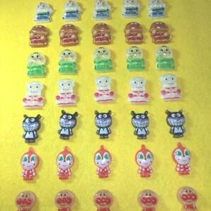 アンパンマンシリーズ デコパーツ 7種類×各5個 合計35個セット+ジビッツ土台パーツ付き C