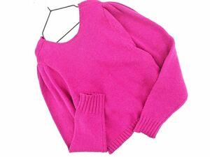 Ray BEAMS レイビームス ウール混 カシュクール ニット セーター ピンク ◆■ ☆ bjc6