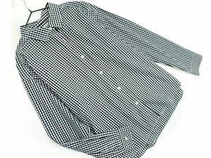 ネコポスOK BEAMS HEART ビームスハート ギンガムチェック シャツ 白x黒 ◇■ ☆ bjb5