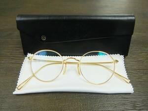 美品 全完備 ayame manray gold アヤメ マンレイ ゴールド hand made in Japan 箱 眼鏡拭き付 シンプル ボストン