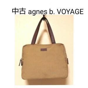中古 アニエスベー ボヤージュ ハンドバッグ ハンドルに使用感アリ agnes b. VOYAGE 送料無料