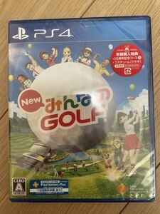 PS4 みんなのゴルフ 初回限定版 新品未開封