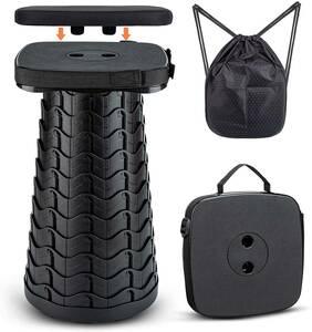 JmGo 折りたたみ椅子 折り畳みいす コンパクト クッション付き 軽量 耐荷重220kg アウトドアチェア 持ち運び 防水 伸縮式スツール