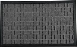Umi(ウミ)-玄関マット 室内外における滑り止め玄関マット 汚れ落とし及び吸水性 耐磨耗性に強いマット シンプル(45*75CM グレー)
