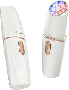 ANLAN 美顔器 RF(ラジオ波) ems 1台5役 赤光 青光 振動 温熱ケア rf美顔器 目元ケア フェイスケア リフトアップ 家庭用美顔器 3段階レベル