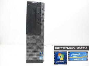 S9502M DELL Optiplex 3010★OS:Win10/CORE i5-3470/メモリ4GB/HDD500GB/DVD/スピーカー内蔵/リカバリ済 デスクトップPC 内部清掃済み